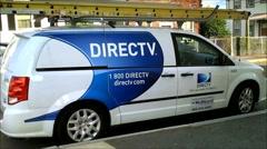 DirecTV company van - stock footage
