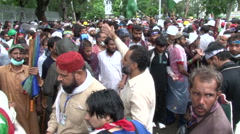 Sep 1st Islamabad Dharna Red Zone - stock footage
