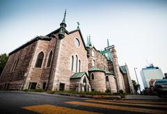 the cathedral in the poor trois-riviere area - stock photo