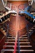 Symmetrical staircases in the poor trois-riviere area Stock Photos