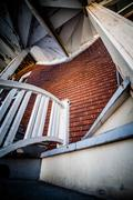 weird set of stairs in the poor trois-riviere area - stock photo