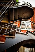 spiral stairs in the poor trois-riviere area - stock photo