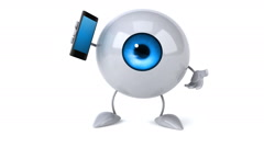 Eye with phone Stock Footage