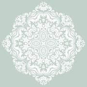 Orient vector ornamental round lace - stock illustration