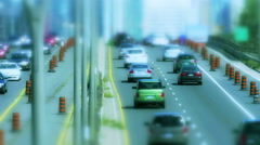 Traffic shot in a tilt shift style (no logos or auto makes discernible) Stock Footage