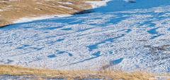 snow relief pattern - stock photo