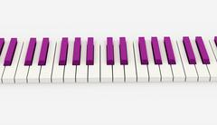 pink piano keyboard rendered on white background - stock illustration