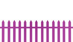 pink fence old concept rendered on white background - stock illustration