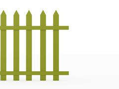 Green fence concept rendered on white background Stock Illustration