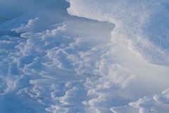 snow pattern - stock photo