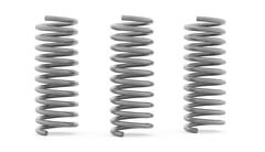 Three metal spiral string on white background Stock Illustration