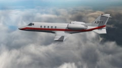 Luxury Corporate Jet - air to air - close up 4K Stock Footage