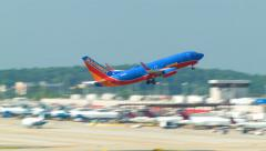Southwest Airlines Taking Off from Atlanta ATL - stock footage