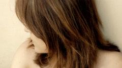 Beautiful sad girl portrait: loneliness, sadness, thoughtful, problems, 4k Stock Footage