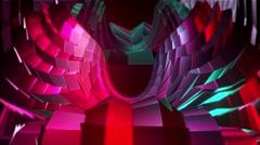 Lo-poly angel´s wings Digital Stream Stock Footage