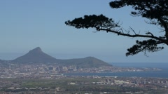 Cape Town,Lions Head and Signal Hill.Static Establisher Stock Footage