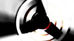 Light rays circle wheel Stock Footage