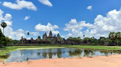 angkor wat temple - stock photo