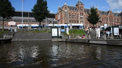 View of Amsterdam canal - The Netherland Stock Footage