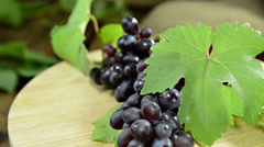 Rotating blue grapes (loopable) Stock Footage