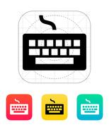 Wired keyboard icon. Stock Illustration