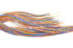 Multicolored computer network cable - stock photo