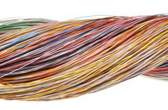 Multicolored computer network cable Stock Photos