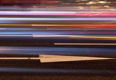 Night traffic pattern Stock Photos