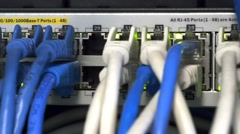 Network server close up Stock Footage