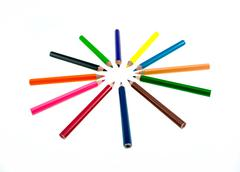 Pencil background Stock Photos