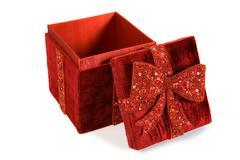 christmas: fancy christmas gift box - stock photo