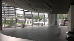 Interior of BMW welt and visitors - Munich, Germany Stock Footage