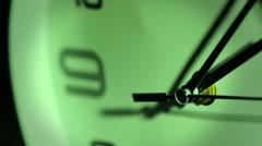 modern clock on dark background: time, watch, timepiece - stock footage