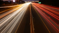 4K UltraHD A timelapse view of night traffic in Ontario, Canada Stock Footage