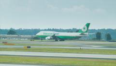 Eva Air Cargo Boeing 747 at Atlanta Airport ATL Stock Footage