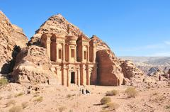 ad deir, the monastery temple, petra, jordan - stock photo