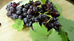 Blue grapes (not loopable) Stock Footage