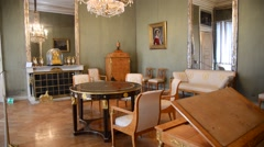 view of interior Nymphenburg castle - Munich, Germany - stock footage