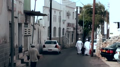 Muttrah (Matrah) Oman sultanate 020 cityscape with Omani citizen Stock Footage