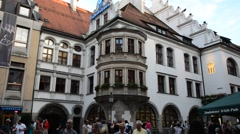 View of famous Hofbrauhaus - Munich, Germany Stock Footage