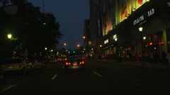 White Plains Driving Down Main Street 1 Stock Footage