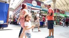 Municipal Market (Mercado Municipal) in Sao Paulo, Brazil Stock Footage