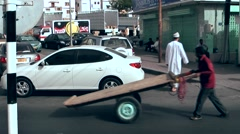 Muttrah (Matrah) Oman sultanate 010 citizens in a downtown street Stock Footage