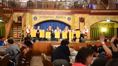 Interior of famous Hofbrauhaus - Munich, Germany Stock Footage