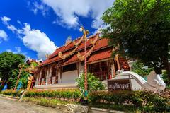 wat phra sing temple in chiang rai, thailand - stock photo
