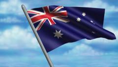 Australian Flag Animation – 4K Resolution Ultra HD Stock Footage