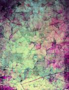Grunge abstract textured mixed media collage, art background or texture - stock illustration