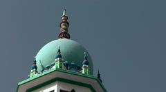 Muttrah (Matrah) Oman sultanate 018 ornate colorful mosque Stock Footage