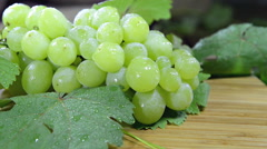 Green grapes (not loopable) Stock Footage