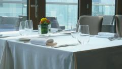 Fine Dining Restaurant 4K Stock Footage